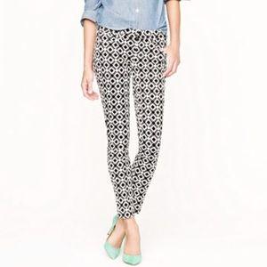 JCREW Black and White Geometric Print Ankle Jeans